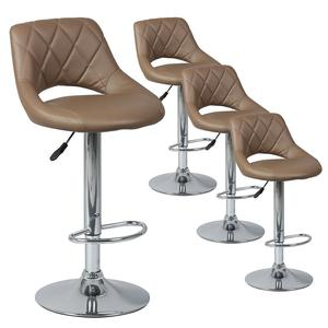 Hamilton - lot de 4 tabourets de bar marron