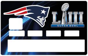 Sticker pour carte bancaire, New England PATRIOTS, SUPER BOWL 2019