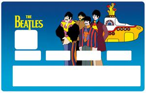 Sticker pour carte bancaire, THE BEATLES Yellow submarine