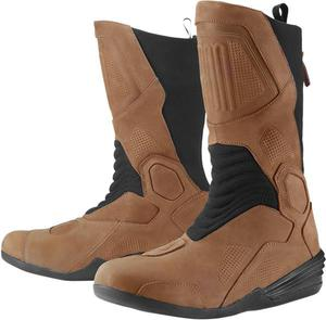 Bottes moto route Icon Joker WP - Marron 41