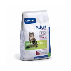 Croquettes virbac hpm neutered & entire adulte au saumon pour chat sac 7 kg
